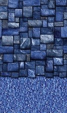 Blue Slate Stream Stone A/G Liner