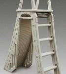 Pool A-Frame Ladder w/security barrior
