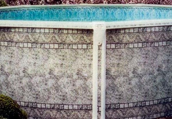 Dauntless Pool Gray Mosaic Wall