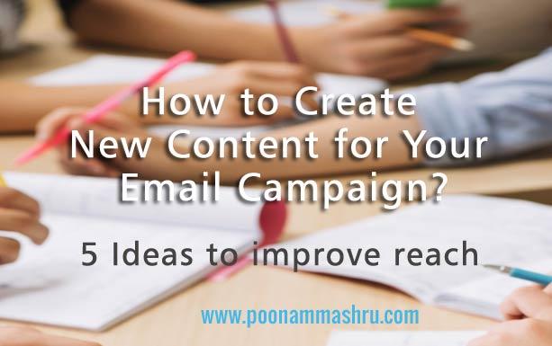 content writing ideas for email marketing at poonam mashru blog