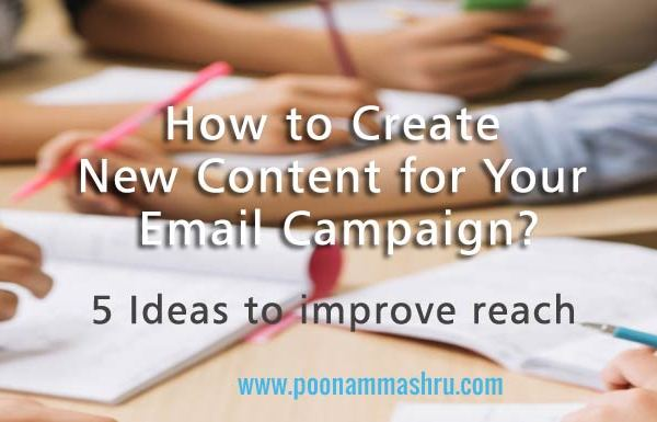 content writing ideas for email marketing at poonam mashru blog