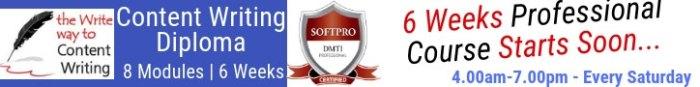 content writing course with poonam mashru at dmti softpro