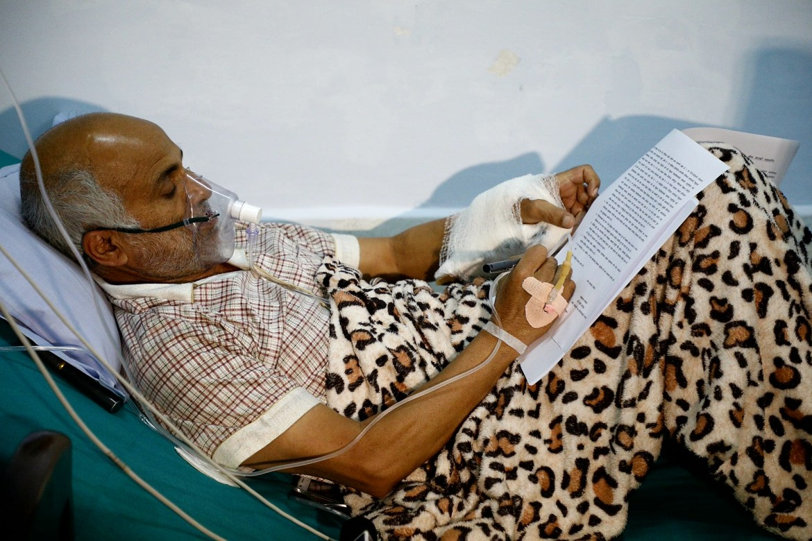 Dr. KC signing agreement being in hunger strike