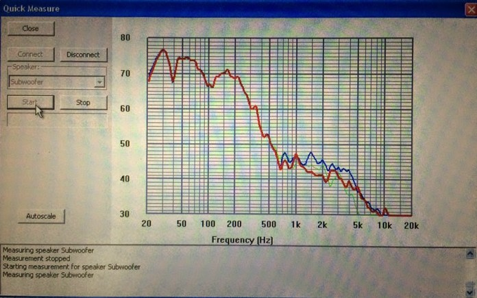 Using Anthem ARC's Quick Measure, you can see what your subwoofer's response is.