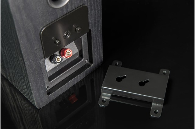 The Prime Elevation's mount is patented and can hang the speaker in any one of four different orientations for ultimate flexibility.