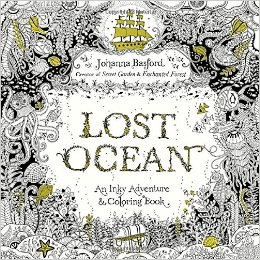 Lost Ocean Adult Colouring book by Johanna Basford