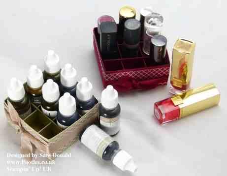 Pootles Stampin Up UK Lipstick or Reinker Storage Box