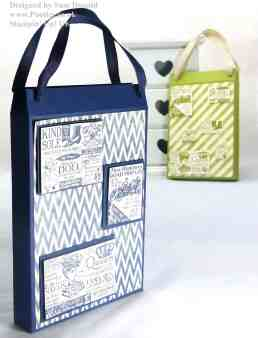 Pootles Stampin Up UK Shopping Bag Card Holder Tutorial 2