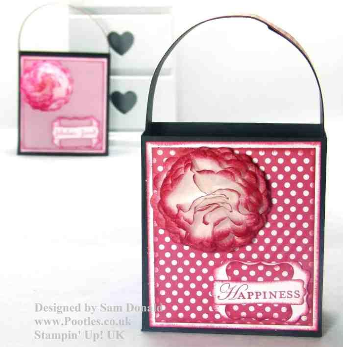 Pootles Stampin Up Handled Gift Bag Tutorial 3
