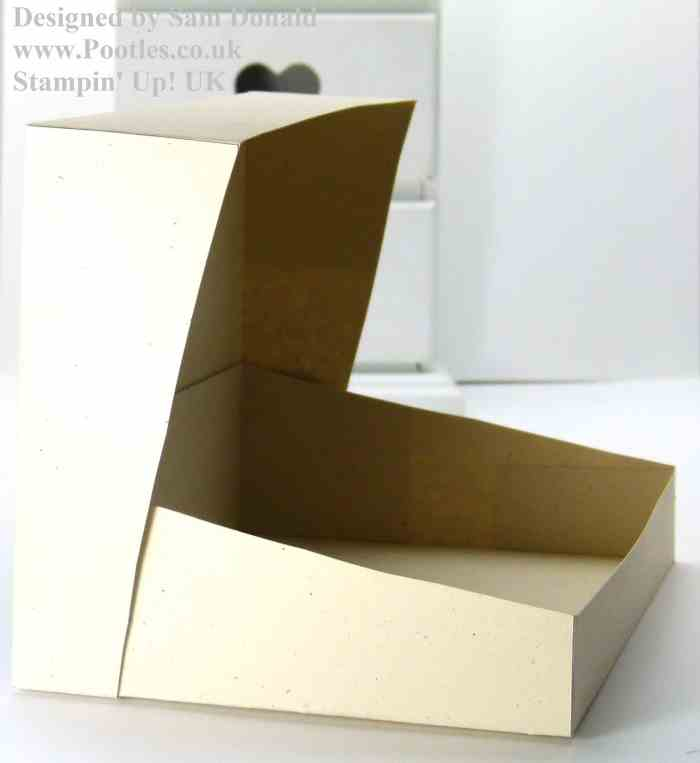 Pootles Stampin Up Sloping Sided Box