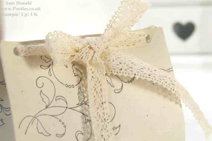 POOTLES Stampin Up Wide Tub Gift Box Tutorial