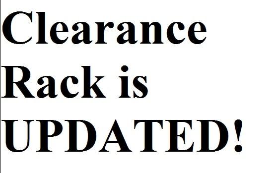 clearance rack update