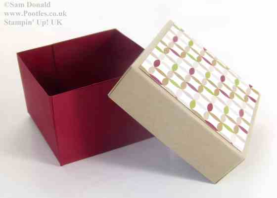 POOTLES Stampin Up UK ADVENT COUNTDOWN 5 Lidded Box VIDEO