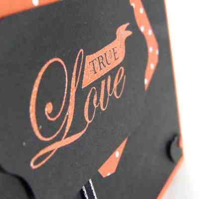 Pootles' Brights Week Manly Tangerine Tango Valentine Card