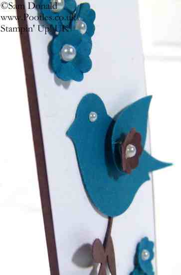 POOTLES Stampin' Up! UK Bird Builder Punch meets the Scalloped Tag Topper Punch!