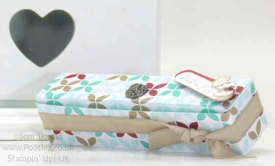 POOTLES Stampin' Up! UK Paper box with built in sides tutorial single