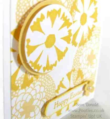 POOTLES Stampin' Up! UK Petal Parade 3x3 Easter Card Showcase Close Up