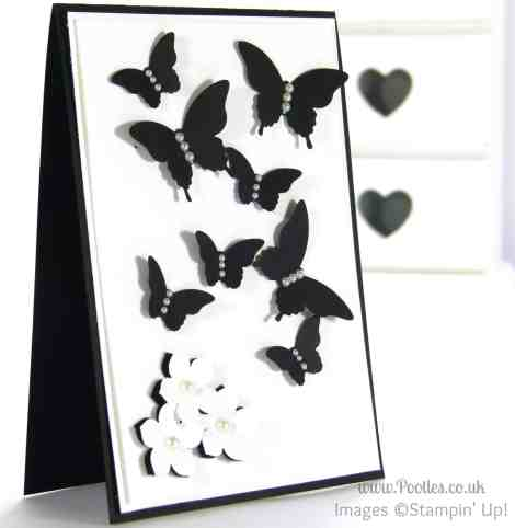 Stampin' Up! UK Demonstrator Pootles - Black and White Butterflies using Stampin' Up! Punches