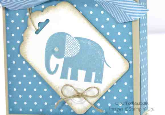 Stampin' Up! UK Independent Demonstrator Pootles - Adorable Box for Baby Bibs and Gifts Zoo Babies