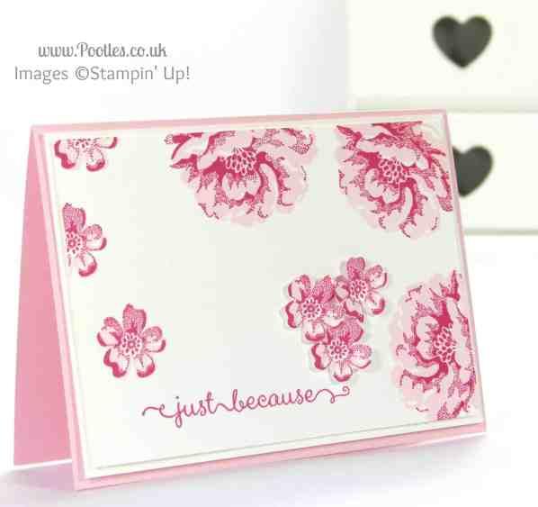 Stampin' Up! UK Independent Demonstrator Pootles - Floral Handmade Card using Stampin' Up! Stippled Blossoms