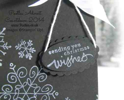 Pootles Advent Countdown #1 Endless Wishes Bag Tutorial hanging tag