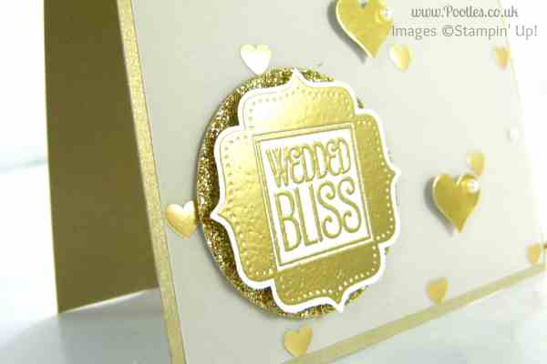 South Hill Designs & Stampin' Up! on Sunday - Golden Card Heat Embossing Detail