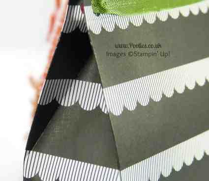 Stampin' Up! UK Demonstrator Pootles - Monochrome Paper Bag Tutorial Extra Score Lines