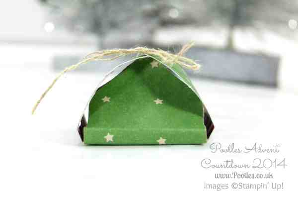 Pootles Advent Countdown #8 Envelope Punch Board After Dinner Chocolate Treat Tutorial Single