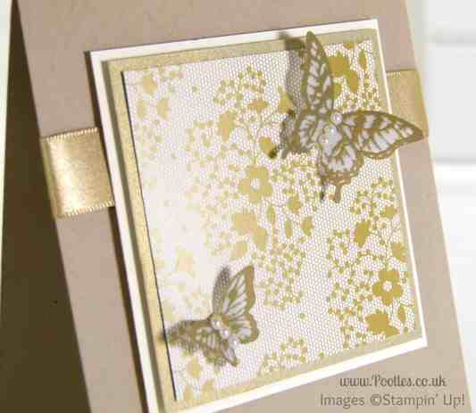 South Hill Designs & Stampin' Up! Sunday Golden Butterflies Showcase Close Up