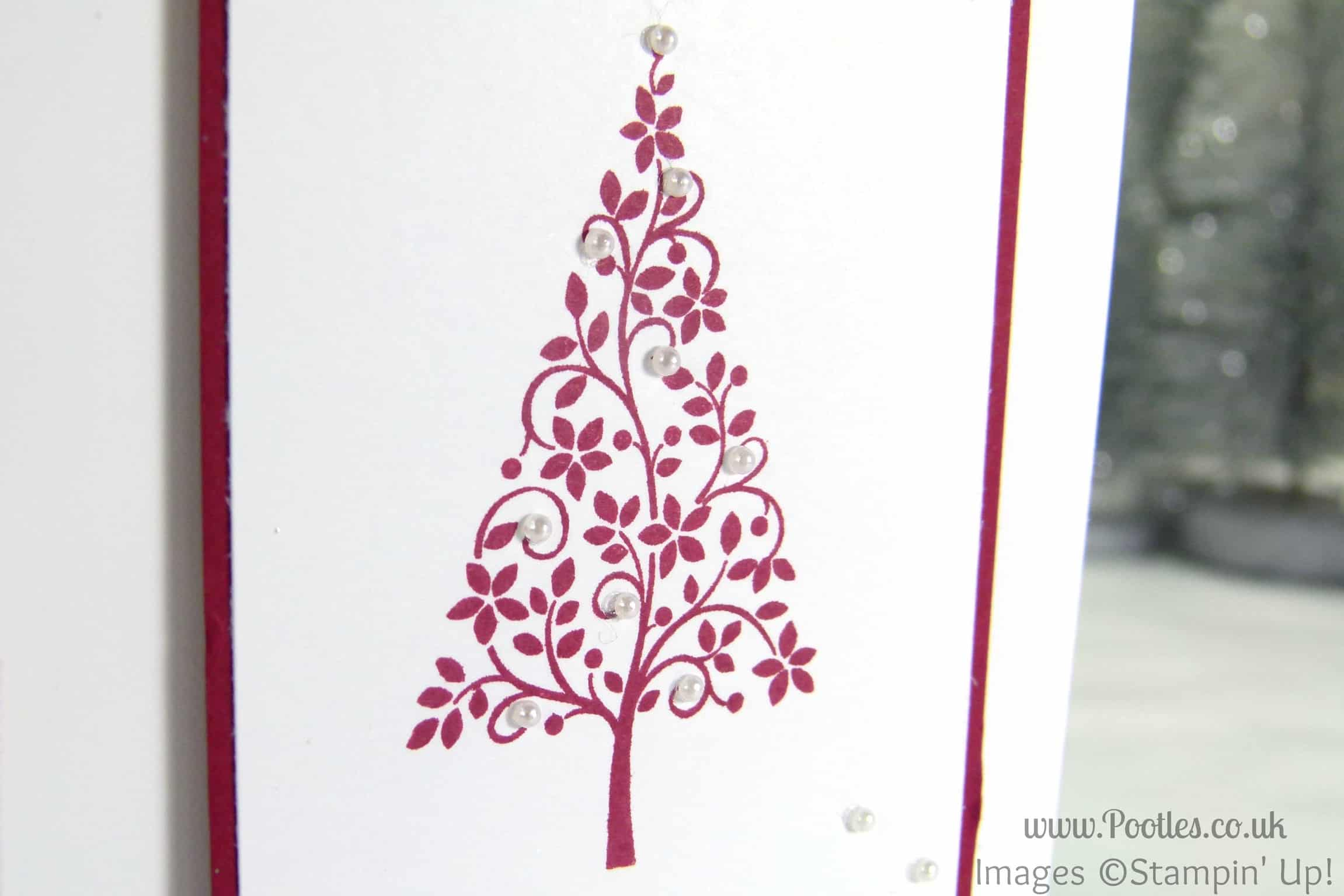 Simple Christmas Card Using Stampin Up Festival Of Trees
