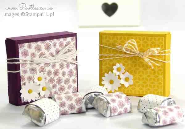 Hershey Nugget Box Tutorial using Stampin' Up! Supplies