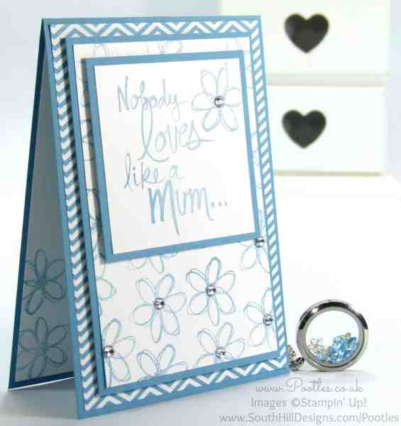 South Hill Designs & Stampin' Up! Sunday Mother's Day Card and Locket Tutorial March