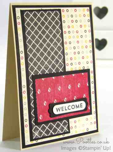 Stampin' Up Independent Demonstrator Pootles - Team Welcome Cards using Flashback DSP 1