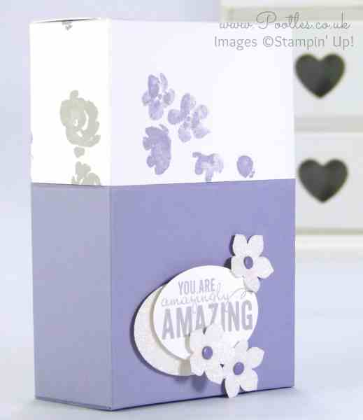 Stampin' Up! Demonstrator Pootles - Sneaky Box with Flush Fitting Lid Wisteria Wonder