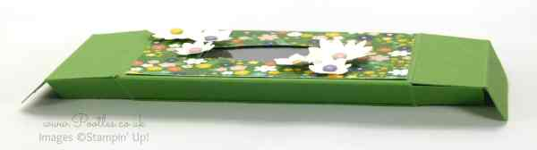 Stampin' Up! Demonstrator Pootles - Fold Flat Window Box Tutorial using Flowerpot DSP flattened