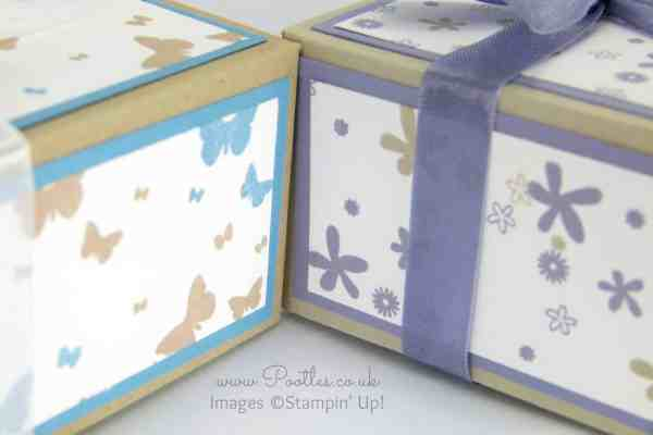 Perpetual Birthday Calendar Hand Stamped Box Tutorial close up