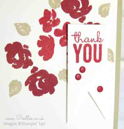 Stampin' Up! Demo Pootles - Real Red, Cherry Cobbler, Sahara Sand Painted Petals! Close Up