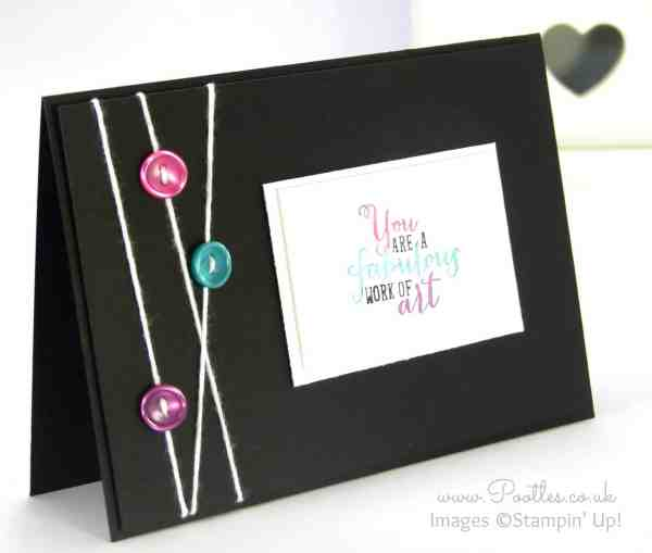 Stampin' Up! Demonstrator Pootles - Bright and Black Work of Art