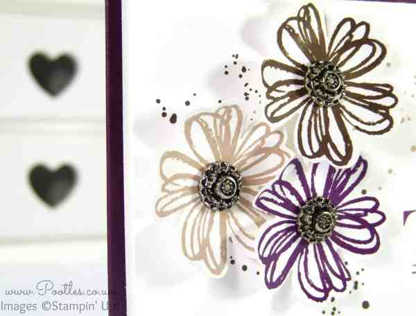 Stampin' Up! UK Demonstrator Pootles - A Flower Shop Pansy Punch Thank You! Close Up