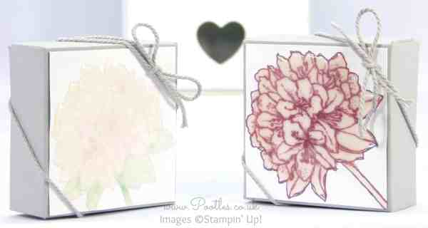 Stampin' Up! UK Demonstrator Pootles - 3 x 1 Stamped and Glazed Box Tutorial