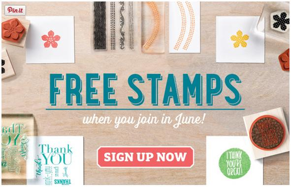Stampin' Up! joining Offer Stamps