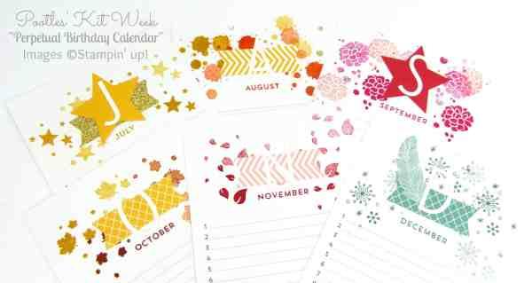 Pootles Kit Week #3 - Perpetual Birthday Calendar Project Kit Close Up