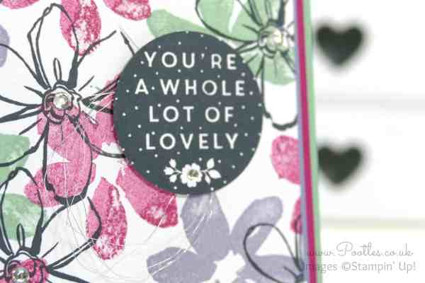 Stampin' Up! Demonstrator Pootles - Garden in Bloom Card using Whole Lot of Lovely Hostess Set close up