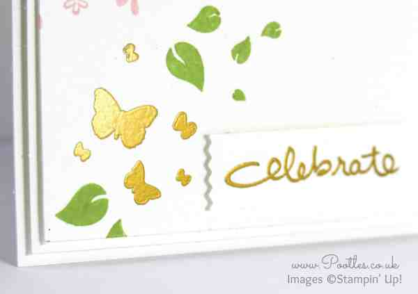 Stampin' Up! Demonstrator Pootles - Perpetual Birthday + Gold Embossing. Celebrate! Close Up