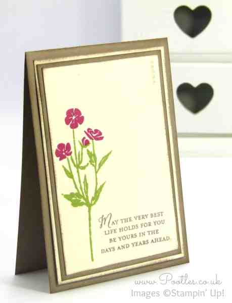 Stampin' Up! Demonstrator Pootles - Wild About Flowers Card. Are You