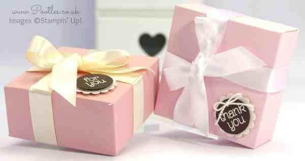 Stampin' Up! UK demonstrator Pootles - Elegant Pink and Brown Box Tutorial