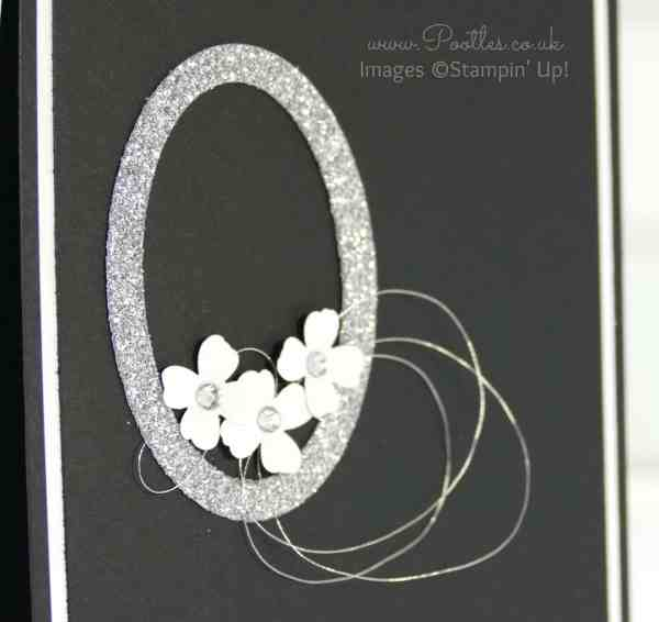 South Hill Designs & Stampin' Up! Sunday Beautiful Ovals Card Close Up