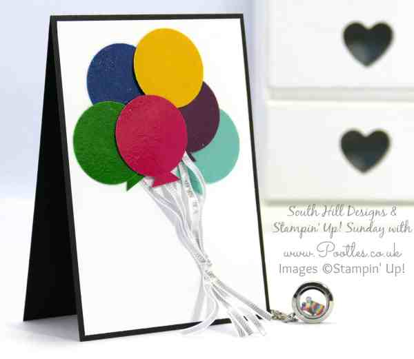 South Hill Designs & Stampin' Up! Sunday Easy Balloon Card