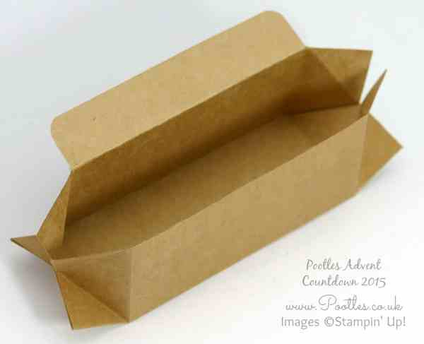 Pootles Advent Countdown #20 Triangular Table Box Tutorial Open
