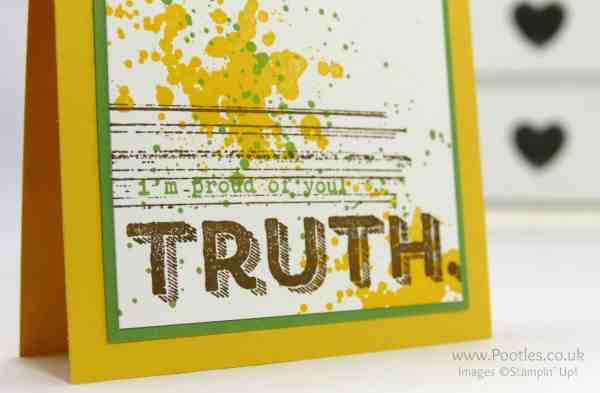 Stampin' Up! Demonstrator Pootles - Gorgeous Grunge Words of Truth Close Up